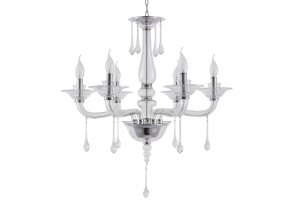 Люстра Crystal Lux MONICA SP6 CHROME/TRANSPARENT